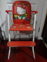 VINTAGE SANRIO HELLO KITTY BABY HIGH CHAIR FROM YOKOSUKA, JAPAN in Travis AFB, California