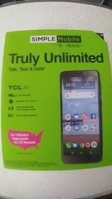 NEW SIMPLE MOBILE TCL A1 PREPAID SMART PHONE SEALED in Beaufort, South Carolina