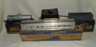 Vintage American Flyer S Scale Vista Dome Tank Hopper & Transformer A.C. Gilbert in Glendale Heights, Illinois
