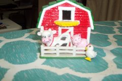magnet small barn with cow, pig and chicken in Conroe, Texas