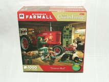 Mc Cormick Farmall Tractor Forever Red Jigsaw Puzzle Charles Freitag Art in Westmont, Illinois