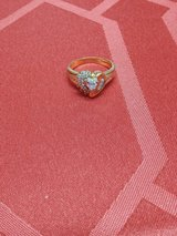 Gold and diamond heart rings in Okinawa, Japan