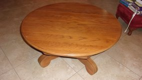 Vintage solid oak coffee table in The Woodlands, Texas