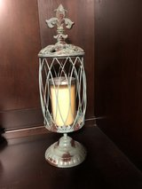 Metal candle holder in The Woodlands, Texas