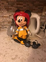 fireman Mickey with axe and shades in Travis AFB, California
