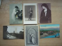 6 very old German postcards (unused) in Stuttgart, GE