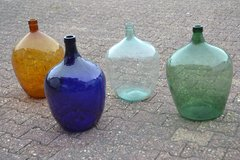 Georious Mouth blown Demi johns in different colours clear green amber blue in Wiesbaden, GE