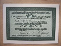 92 year old German Stock Certificate in Stuttgart, GE