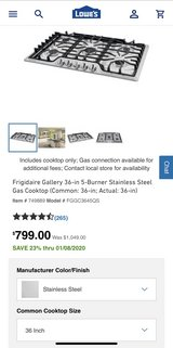 "Frigidaire 36"" Cooktop in Bolingbrook, Illinois"