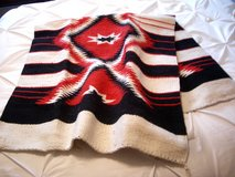 NAVAJO RED/WHITE/BLACK AREA RUG - 29 x 60 INCHES - WOOL/NYLON/POLY in Sandwich, Illinois