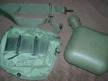 Military Issue 2 qt. bladder canteen, w/cover & carry strap in Naperville, Illinois