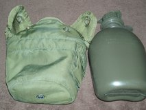 Military Issue 1 qt. Plastic Canteens w/covers in Naperville, Illinois