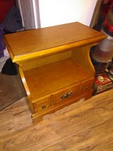 Solid wood side table in 29 Palms, California