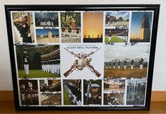 Signed Silent Drill Platoon Framed Poster 25 x 19 Inches in Okinawa, Japan