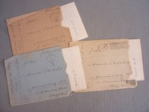 Three WWII Feldpost letters, w/envelopes in Stuttgart, GE