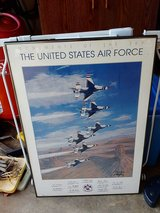Large framed picture of Air Force Thunderbirds in Byron, Georgia