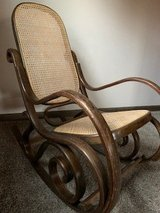 Vintage adult bentwood/cane rocker in Naperville, Illinois