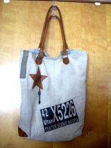 PRE-OWNED MONA B CANVAS/LEATHER RECYCLED HANDBAG -UTAH MOTIF in Chicago, Illinois