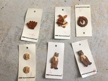 6 wooden JHB international buttons NEW in Stuttgart, GE