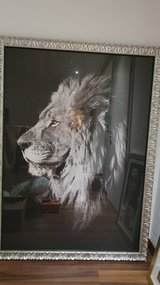 Large Lion picture in Ramstein, Germany