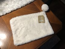 New White Fur Zippered Make-Up Bag - Pier 1 in Plainfield, Illinois