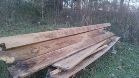 Old lumber in Fort Polk, Louisiana