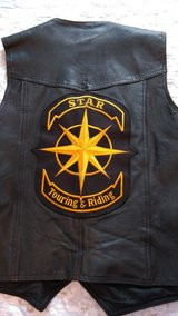 Leather Motorcycle vest in Byron, Georgia