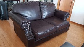 Sofa and loveseat leather $300 in Okinawa, Japan