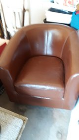 LEATHER BARREL CHAIR in 29 Palms, California