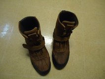 Boys POLO Brown Casual Ankle Boots Youth size 4 1/2 in Fort Benning, Georgia