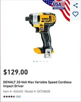 BRAND NEW Dewalt Impact Driver in Travis AFB, California