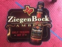 Ziegenbock man cave beer sign in Kingwood, Texas
