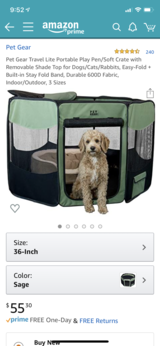 Pet Gear Portable Play Pen in Chicago, Illinois