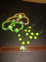 Packers Bracelets and keychains!! in Fort Campbell, Kentucky