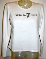 New! Sz Large Trussardi Jeans Women's Cotton Stretch Jersey Top / Long Sleeve T-Shirt in Chicago, Illinois