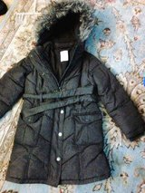 Warm and cozy girls long  puff coat size 6 in Fairfield, California