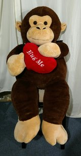 Giant Stuffed Valentines Day Monkey in Chicago, Illinois