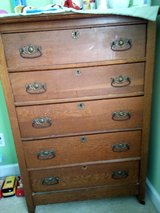 Oak and brass Dresser in Camp Lejeune, North Carolina