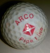 ARCO PIPELINE Logo on Golf Ball in Houston, Texas