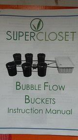 Bubble flow buckets hydroponic grow system in Chicago, Illinois