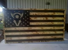 handmade wood flag in Fort Polk, Louisiana