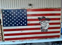 handmade wooden flag in Fort Polk, Louisiana