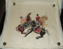 Asian Rice Paper Art ~ Horsemen playing Polo on rice paper ~ in Westmont, Illinois