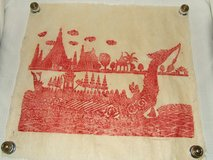 Masterful South-East Asian Art ~ Thailand Temples Stone rubbing ~ Red Dragon Warship in Westmont, Illinois