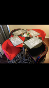 Booth table with 4booth chairs in Camp Pendleton, California