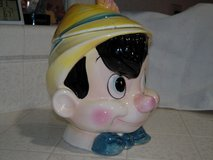 Vintage Disney Enesco Pinocchio cookie jar in 29 Palms, California