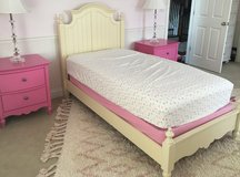 Girls Decorative Twin Bed Frame - Yellow in Chicago, Illinois