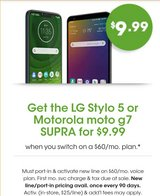 Cricket Wireless 6946 W CERMAK RD Switch over Get LG STYLO 5 32GB $9.99 in Westmont, Illinois
