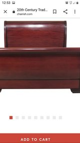 Antique sleigh bed in Fort Campbell, Kentucky