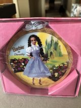 New Enesco Barbie as Dorothy Porcelain Hanging Ornament - New in Box in St. Charles, Illinois
